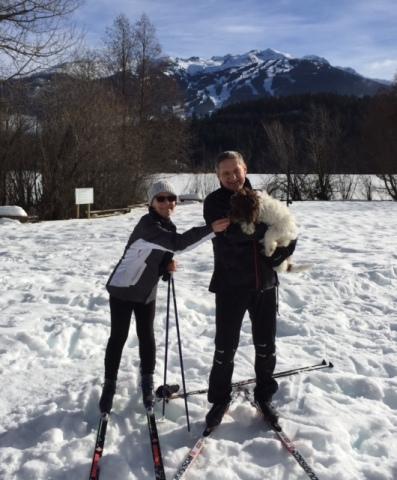 Roland & I with Jasper - Rainbow Park, Feb 2016