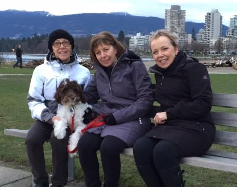With Linda, Bobbi and Jasper - January 25, 2016